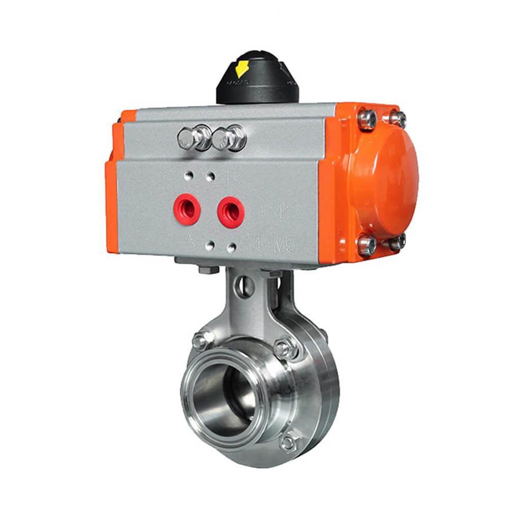 Food Safe Pneumatic Operated Butterfly Valve